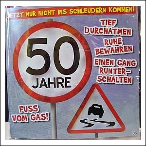 Geburtstagskarte mit Musik 3868-036 D 50. Geburtstag