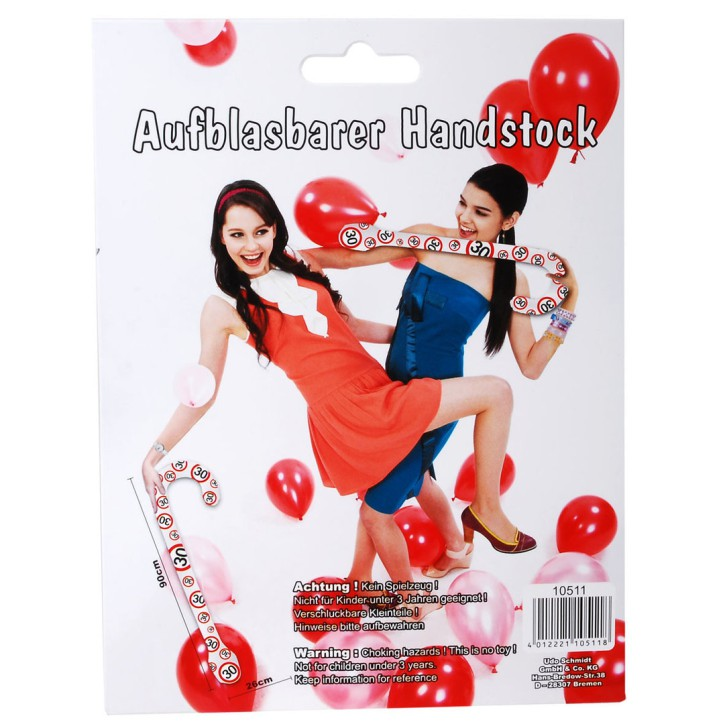 Aufblasbarer Handstock Motiv 30 zum 30. Geburtstag