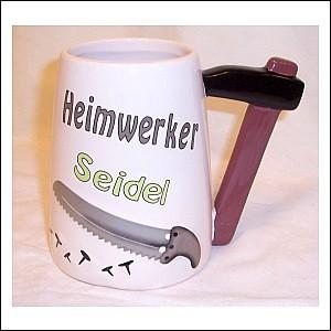 Heimwerker lustiger Bierkrug