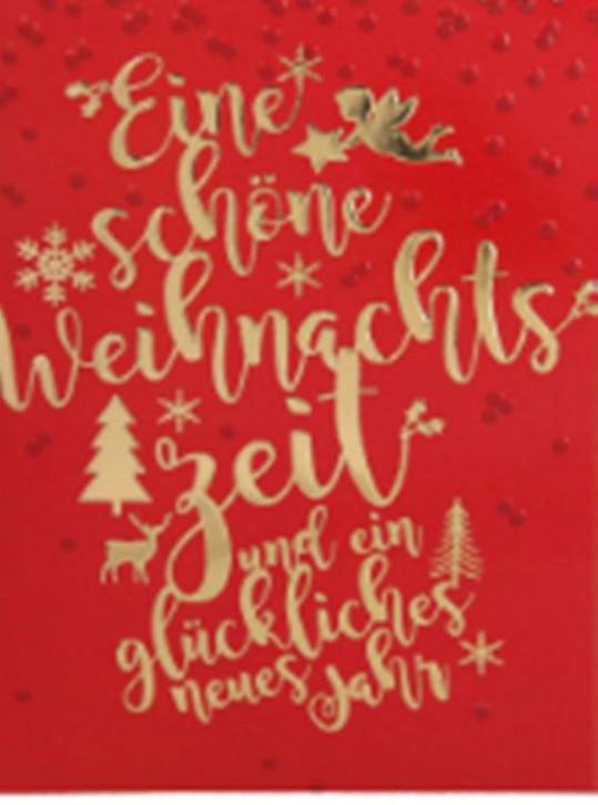 Lustige Weihnachtskarte Klappkarte Eine schöne Weihnachtszeit und ein...