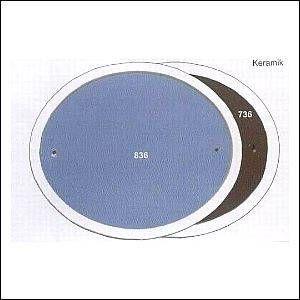 Haustürschilder oval dunkelgrau