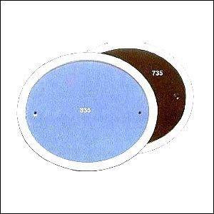 Haustürschilder oval mittelgro blau
