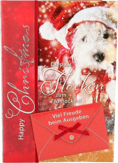 Emotions Weihnachtsklappkarte Ein paar Flocken zum Frohlocken! Viel...  für Geldgeschenke 1 Karte