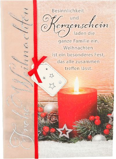 Emotions Weihnachtsklappkarte 043 für Geldgeschenke 1 Karte