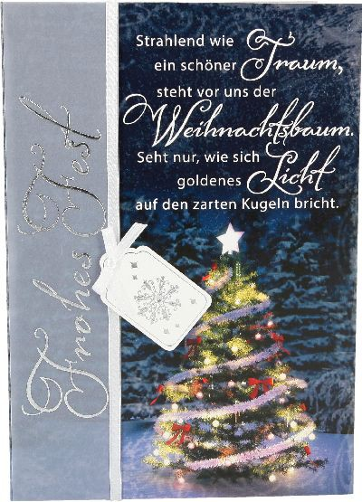 Emotions Weihnachtsklappkarte Strahlend wie ein schöner Traum, steht..  1480-056