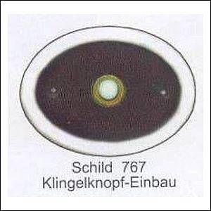 Haustürschilder Oval Klingelknopf 1