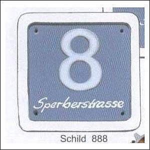 Haustürschilder Hausnummern 2
