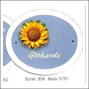 Haustürschilder Klassik Oval 4 5151