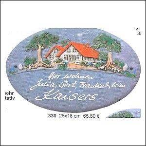 Haustürschilder Klassik Art 330