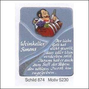 Haustürschilder Serie Swing 5230