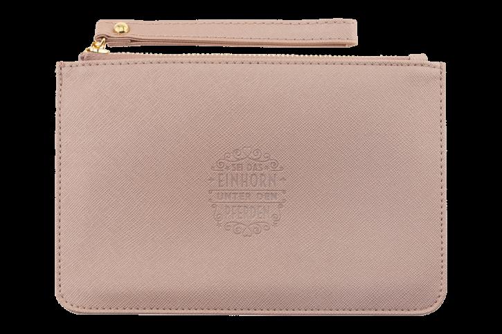 Persoenliche Clutchtasche/Kosmetiktasche  Sei das Einhorn… Handtasche Damen