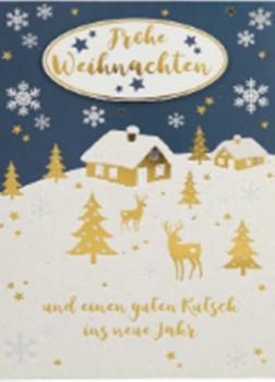 Lustige Weihnachtskarte Klappkarte Frohe Weihnachten und einen guten...
