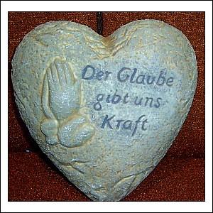 Trauerstein Herz Glaube