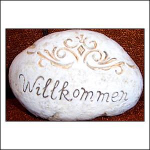Stein mit Spruch