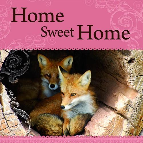 Geschirrtuch 029 mit Spruch  Home sweet Home