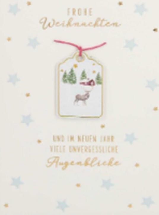 Lustige Weihnachtskarte Klappkarte Frohe Weihnachten und im neuen Jahr...
