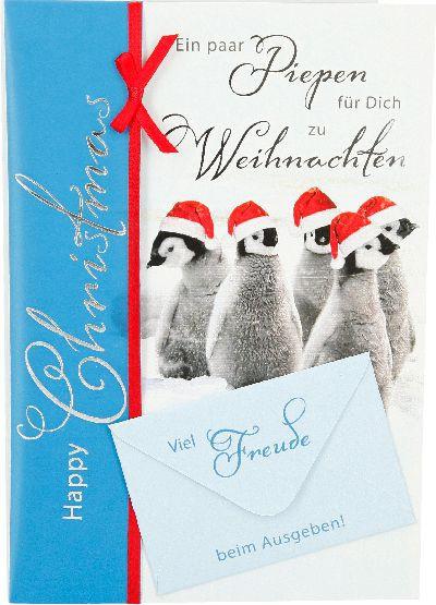 Emotions Weihnachtsklappkarte Ein paar Piepen für dich zu Weihnachten  für Geldgeschenke 1 Karte