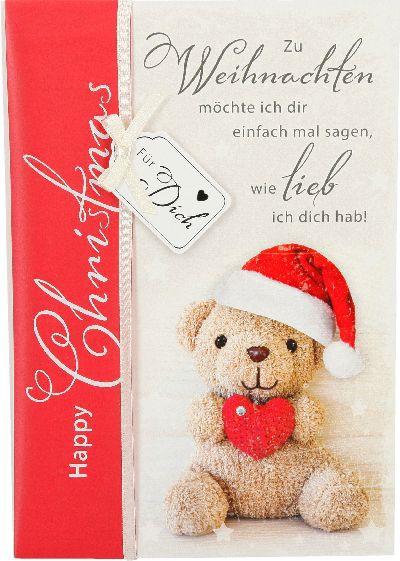 Emotions Weihnachtsklappkarte 027 für Geldgeschenke 1 Karte