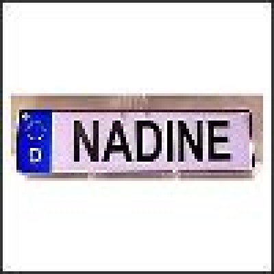 Auto Namensschild Daniela