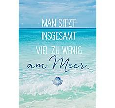 Groh Magnet mit schönem Spruch Man sitzt insgesamt viel zu wenig am Meer