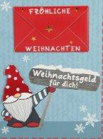 Lustige Weihnachtskarte Klappkarte Weihnachtsgeld für dich! Fröhliche...