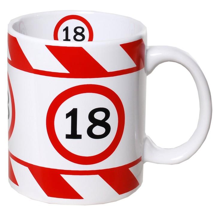 Kaffeetasse mit Zahl zum Geburtstag Becher 18
