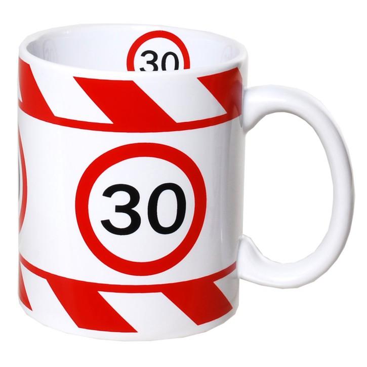 Kaffeetasse mit Zahl zum Geburtstag Becher 30