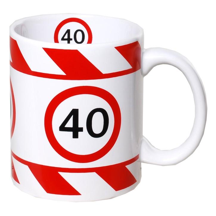 Kaffeetasse mit Zahl zum Geburtstag Becher 40
