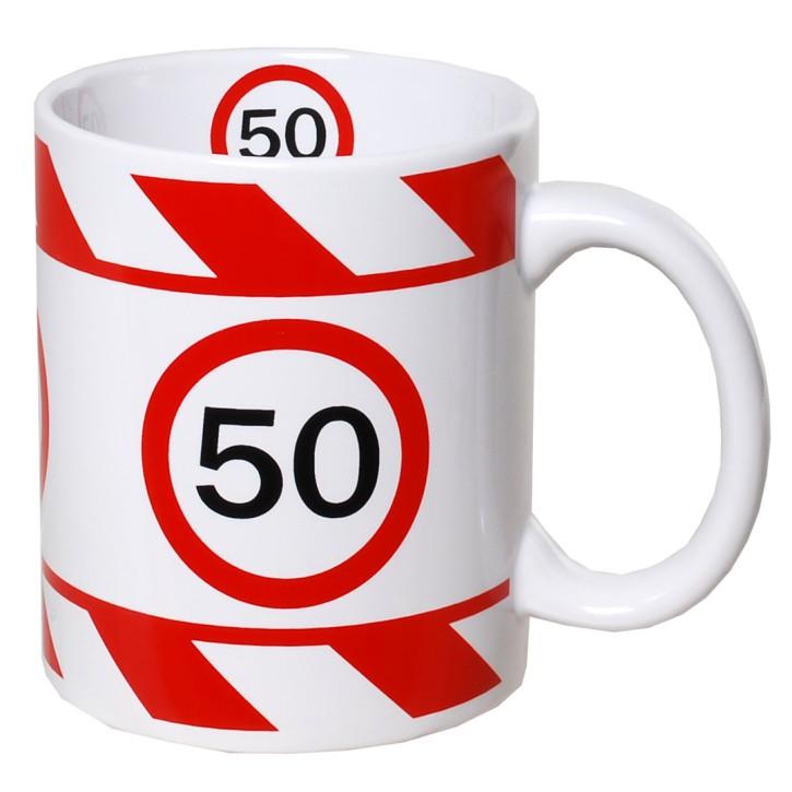 Kaffeetasse mit Zahl zum Geburtstag Becher 50