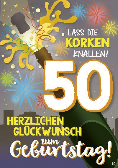 Musikkarten mit Überraschung 010a zum 50. Geburtstag