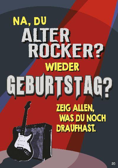 Musikkarten mit Überraschung 020c Du Alter Rocker