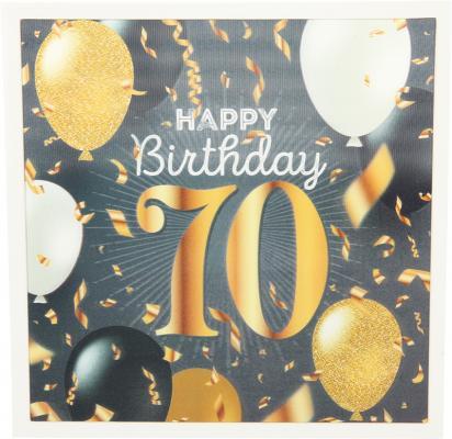 Depesche 3D Klappkarte 006c zum 70. Geburtstag