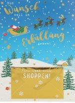 Lustige Weihnachtskarte Klappkarte Ein Wunsch soll in Erfüllung gehen! Viel