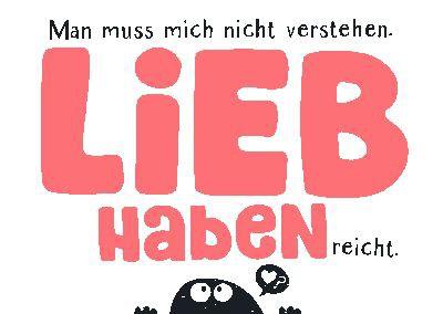 Neon Postkarte mit Spruch - Man muss mich nicht verstehen, lieb...