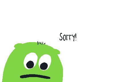 Neon Postkarte mit Spruch - Sorry!
