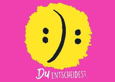 Neon Postkarte mit Spruch - Du entscheidest!