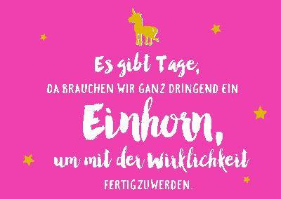 Neon Postkarte mit Spruch - Es gibt Tage, da brauchen wir ganz...