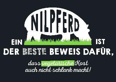 Neon Postkarte mit Spruch - Ein Nilpferd ist der beste Beweis dafür, ..
