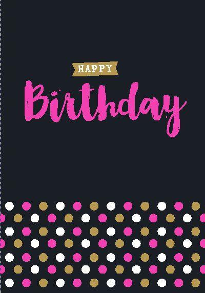 NEON Klappkarten mit Spruch - Happy Birthday!
