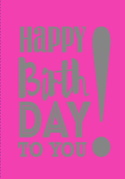 NEON Klappkarten mit Spruch - Happy Birthday to you!