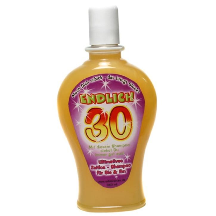 """Spaß-Shampoo 350 ml Haarwäsche für sie und ihn """"Endlich 30"""" (Grundpreis 34,26 Euro/l)"""