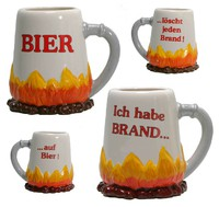 Bierkrug Brand