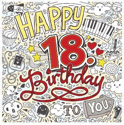 Geburtstagskarte mit Musik 3868-029B zum 18. Geburtstag