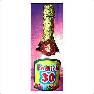 Sektflasche 30 Geburtstag