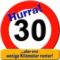 Riesenschild Hurra 30