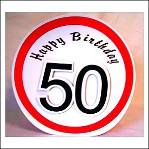 Geschenktüte 50. Geburtstag