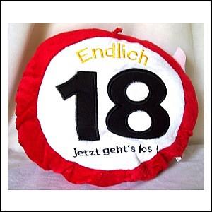 Kissen 18. Geburtstag