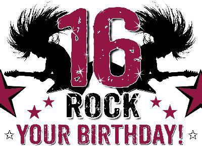Klappkarte mit Sprüchen Undercover klein 001 16 ROCK YOUR BIRTHDAY!