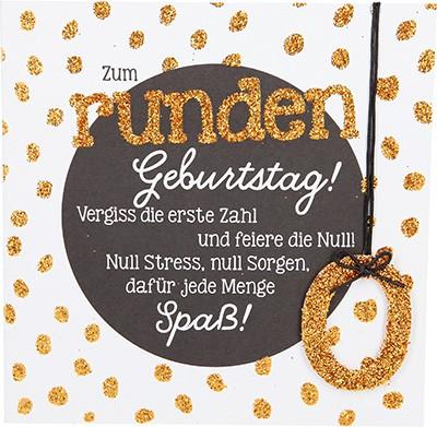 Glamour Glitzer Grußkarte Klappkarte mit Umschlag zum runden Geburtstag! Vergiss die...  ,quadratisch 013