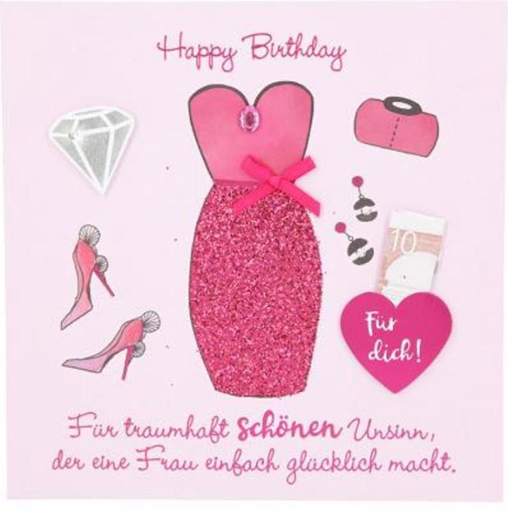 Glamour Glitzer Grußkarte Klappkarte mit Umschlag quadratisch 015